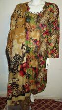 "Beautiful 3pcs 100% Cotton Lawn Salwar/Shalwar Kameez & Dupatta Suit XL.Size 44"""