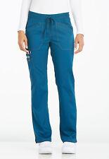 Caribbean Dickies Essence Mid Rise Straight Leg Drawstring Scrub Pants DK106 CAR