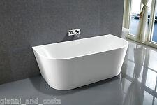 "Bathroom Acrylic Free Standing Bath Tub 1500x750x580 Freestanding ""Back to Wall"""