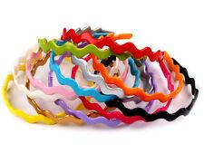 serre-tête plastique, Ondulé, étroit, large, multicolore, plusieurs couleurs, 5