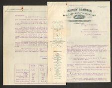 """PARIS (XI°) FOURNITURES pour USINES / HUILES VALVOLINE """"Henry HAMELLE"""" en 1937"""