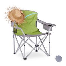 Silla plegable para camping o playa, Con posavasos, respaldo y reposabrazos