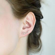 Personalized Custom Name Cursive Name Earring Ear Stud Birthday Valentine's