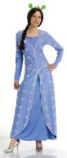 "Princess Fiona ""Shrek The Third"" 2 Pc Blue Poly Satin Brocade Dress & Headpiece"
