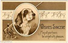 Postcard U.S. Greetings Hunting Dog Theme James Pitts