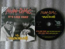 CD-RUN DMC_JASON NEVINS-IT'S LIKE THAT-DROP THE BREAK/BATTLE(CD SINGLE)97-2TRACK