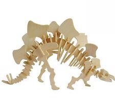 Stegosaurus Dinosaur Jigsaw 3D Wooden Model Kit Jurassic Puzzle Christmas Gift