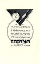 Eterna Uhr Reklame von 1932 Armbanduhr Werbung (N)