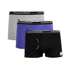 3 x Frank and Beans Mens Underwear BOXER BRIEFS Trunks Cotton S Grey BB