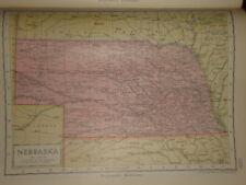 1929 ENCYCLOPEDIA BRITANNICA MAP NEBRASKA USA