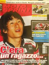Motosprint 36 2010 Morte di SHOYA Tomizawa nel suo ricordo