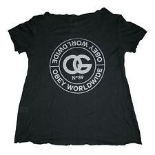 T shirt Obey donna La Rue de la Ruine Dylan Tee Heather Black