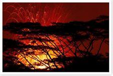 2018 Kilauea Volcano Hawaii Fissure 17 Evening Lava Fountain Silver Halide Photo