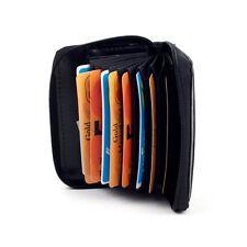 LORENZ Uomo Donna vera pelle porta carte di credito ID Portafogli e portamonete con zip