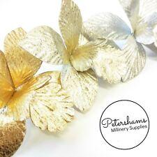 Textured Metallic Leatherette Orchid Millinery Fascinator Headdress Flower