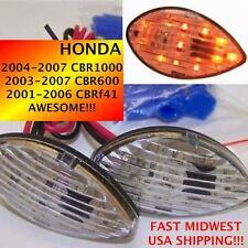 2000 00 HONDA CBR 600 F4 or F4i Clear LED Flush Mount Turn Signals 1 pair TS01
