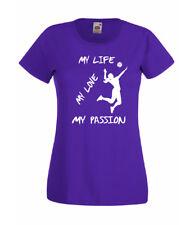 T-SHIRT VOLLEY MY PASSION DONNA maglietta PALLAVOLO sport
