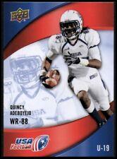 2013 Upper Deck USA Football #3 Quincy Adeboyejo - NM-MT