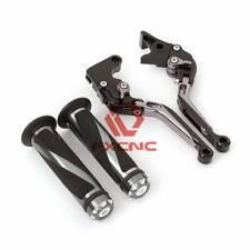 Fold Extend Brake Clutch Levers+Grips For Honda CB300R CBR250R CBR125R CBR300R