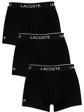 Lacoste Men's 3 Pack Casual Trunks, Black