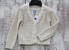 Baby GAP NEW Size 18-24, 2, 4 Ivory White Metallic Thread Button Down Cardigan