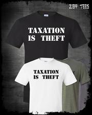 Taxation Is Theft Shirt Libertarian Meme Anti Taxes Liberty Tea Party Ron Paul