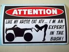 FUNNY ATV WARNING QUAD BIKE ATC ARCTIC CAT MUD BOGGING STICKER DECAL BUSH 618