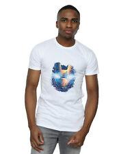 Marvel Men's Avengers Iron Man Distressed Head T-Shirt
