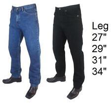Mens Big Size Hard Wear Regular Fit Denim Jeans Size 30-48 Waist