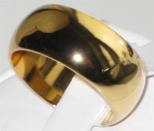 TK1391 linea uomo donna ampia 8 mm Fede Nuziale RING 18 KT ACCIAIO PLACCATO IN ORO GIALLO