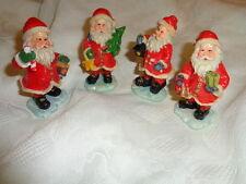 Nikolaus Weihnachtsmann Santa ca. 7 cm Keramik Laterne Glocke Tannenbaum NEU