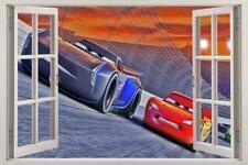 Cars 3 Movie Disney 3D Window Decal Wall Sticker Lightning Mcqueen Home Art J202