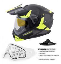 Modular Motorcycle Helmet Dual Sport Scorpion Exo-At950 Neocon Helmet Hi-Vis