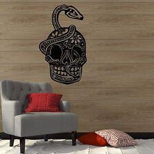 Sugar Skull Snake Coolest Room Decoration Wall Decal Vinyl Sticker (ig3090)