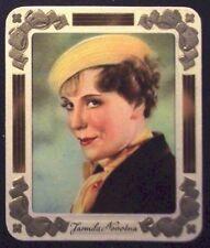 Jarmila Novotna 1936 Garbaty Passion Film Star Embossed Tobacco Card #201