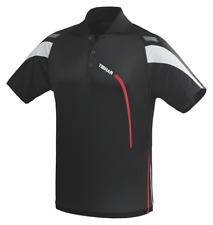 TIBHAR TRIKOT TRIAL - schwarz/rot  Tischtennis Badminton Tischtennis Polo