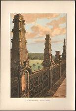 27 LE BEC-HELLOUIN PINACLES DE LA TOUR IMAGE EN COULEURS 1900