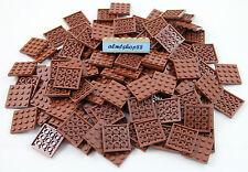 Lego - 4x4 Reddish Brown Plates #3031 Baseplate Base Flat City Castle Bulk Lot