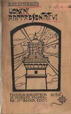 R. W. Emerson UOMINI RAPPRESENTATIVI F.lli Bocca 1929
