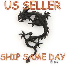 NEW Gothic Punk Metal Style Fly Dragon Ear Cuff Wrap Clip Black & Bronze Earring
