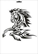 Wandschablone Maler T-shirt Schablone W-062 Feuerpferd ~ UMR Design