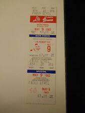 1983 Atlanta Braves vs. Montreal Expos Baseball Full Unused Ticket Stub (Sku1)