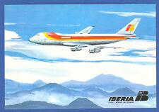 Iberia Spanish Airlines Boeing B-747  Postcard