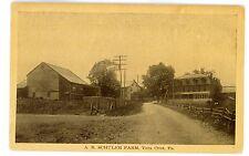 Vera Cruz PA - A.R. SCHULER FARM - Postcard