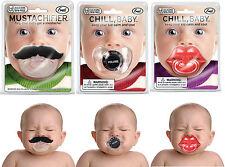 Chill Babyschnuller in Form Schnurrbart, Lautstärkenregler, Kussmund, Schnuller