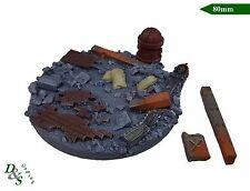 80 mm resina rotonda Urban/MACERIE SCENIC base #2 deredeo Dreadnought WH40K Wargames