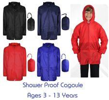 Boys Girls School Kids Unisex Kagoul Rain Coat Jacket Kagool Cagoule Pockets