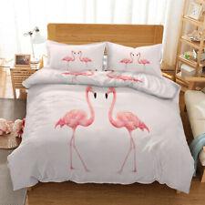 Two Orange Birds 3D Printing Duvet Quilt Doona Covers Pillow Case Bedding Sets