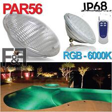 LAMPADA FARO LED PAR 56 RGB 12W 54W LED PER PISCINA POOL 12V 3000K 6000K LUCE