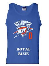 "Russell Westbrook Oklahoma City Thunder ""MVP"" shirt jersey TANK TOP NEW"